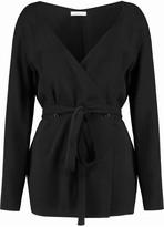 Nina Ricci Belted wool-blend top