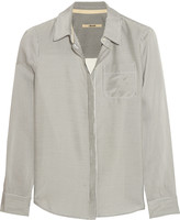 J Brand Hilary striped poplin shirt