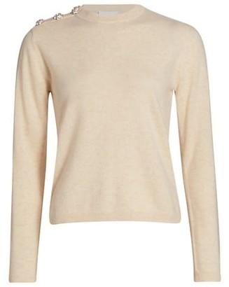 Ganni Shoulder Button Cashmere Sweater