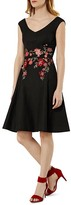 Karen Millen Floral Embroidered A-Line Dress