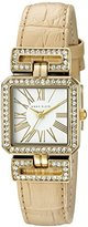 Anne Klein Women's AK/2396WTTN Swarovski Crystal Accented Tan Croco-Grain Leather Strap Watch