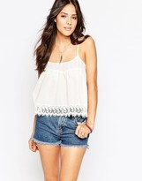 AX Paris Cami Top with Crochet Trim