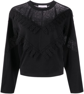 See by Chloe Lace Panel Blouse