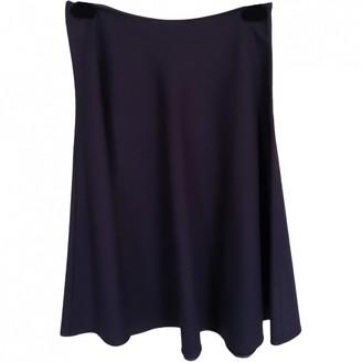 Prada Navy Wool Skirt for Women