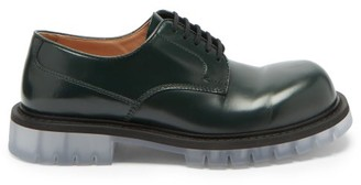 Bottega Veneta Chunky-sole Leather Derby Shoes - Green
