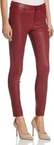 J Brand Mid Rise Skinny Leather Pants in Oxblood