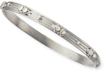 Armenta New World Bangle with White Sapphires & Diamonds