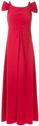 Emporio Armani Draped Front Maxi Dress