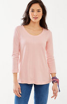 J. Jill Perfect Pima 3/4-Sleeve Seamed Tee