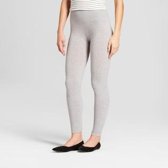 A New Day Women's High Waist Cotton Blend Seamless Leggings Heather