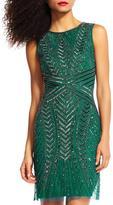 Adrianna Papell Hunter Beaded Dress