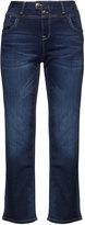 Zizzi Identity Plus Size Nille dark wash straight cut jeans