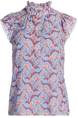 A.L.C. Foley High-Neck Floral Top