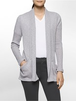 Calvin Klein Ribbed Open Front Cardigan