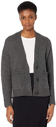 J.Crew Supersoft Cropped Cardi (Black) Women's Sweater