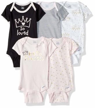 Gerber Baby Girls 5-Pack Short-Sleeve Onesies Bodysuits