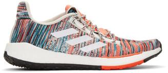 Missoni Adidas X adidas x White and Orange PulseBOOST HD Sneakers