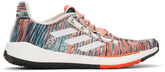 adidas x Missoni White and Orange PulseBOOST HD Sneakers