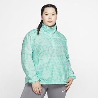 Nike Women's 1/2-Zip Printed Running Jacket (Plus Size Dri-FIT