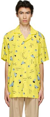 Issey Miyake Yellow Geometric Short Sleeve Shirt