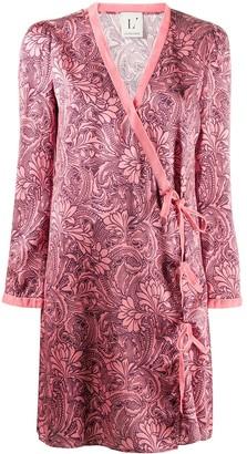 L'Autre Chose Silk Wrap Dress
