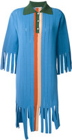 Marco De Vincenzo fringed polo dress - women - Polyester/Viscose - 40