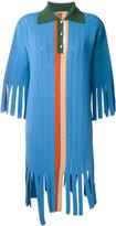 Marco De Vincenzo fringed polo dress - women - Polyester/Viscose - 40