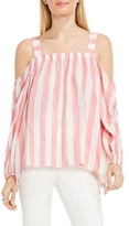 Vince Camuto Women's Off The Shoulder Stripe Blouse