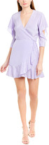 Mason by Michelle Mason Flutter Silk Mini Dress