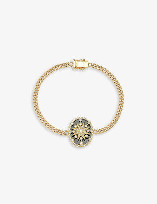The Alkemistry Cage star18ct yellow-gold and diamond bracelet