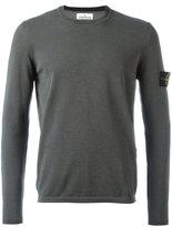 Stone Island arm patch longsleeved T-shirt - men - Cotton - XL