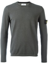 Stone Island arm patch longsleeved T-shirt - men - Cotton - XXL
