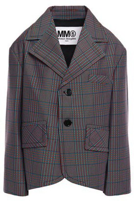 MM6 MAISON MARGIELA Oversized Prince Of Wales Checked Wool-blend Blazer