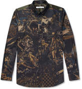 Givenchy Button-Down Collar Printed Cotton-Twill Shirt