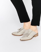 Asos MONUMENT Leather Mule Loafers