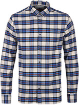 Penfield Crossfield Blue & Beige Check Brushed Cotton Shirt
