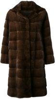 Liska - Ella coat - women - Silk/Mink Fur - S