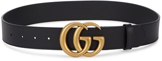 Gucci GG black leather belt