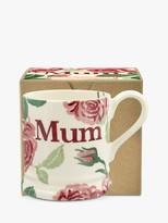 Emma Bridgewater Pink Roses Mum Half Pint Mug, 280ml, Pink/Multi