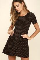 RVCA Sylas Black Print Dress