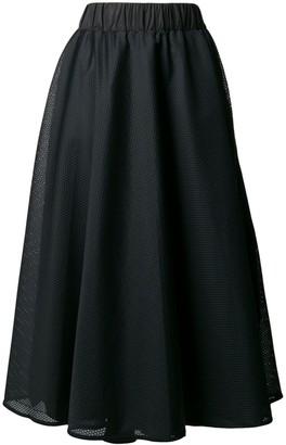 NO KA 'OI Side Stripe Mesh Skirt