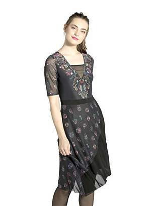 Smash Wear Smash! Women's Tobalai Party Dress, (Black 40), Medium