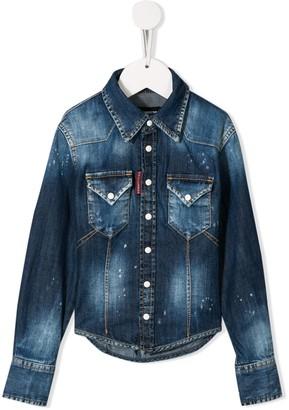 DSQUARED2 stonewashed denim shirt