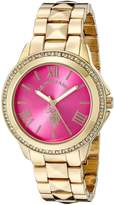U.S. Polo Assn. Women's USC40077 Analog Display Japanese Quartz Gold Watch