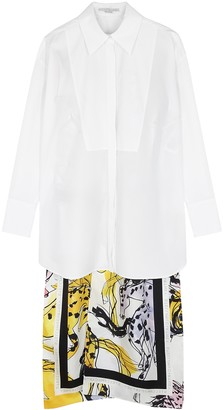 Stella McCartney Rayna white split-back cotton shirt