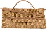 Zanellato top zip tote bag - women - Raffia/Leather - One Size