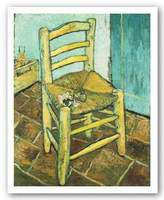 "McGaw Graphics Van Gogh's Chair by Vincent Van Gogh 22.75""x17.75"" Art Print Poster"