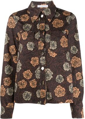 REJINA PYO Point-Collar Floral Print Shirt