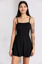 Silence & Noise Silence + Noise Square-Neck Fit + Flare Mini Dress