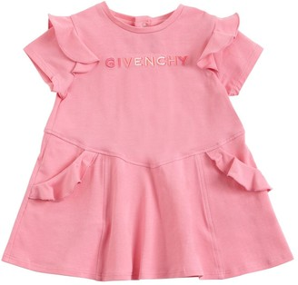Givenchy Logo Print Cotton Jersey Dress